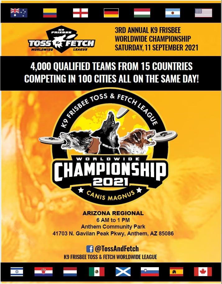 toss & fetch worldwide league 2021 championship arizona regional anthem