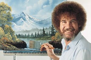 bob ross happy little accidents